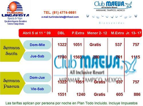 PROMOCIONES CLUB MAEVA TAMPICO TURISMO LINDAVISTA